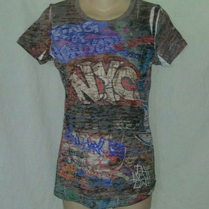 Next Level M NWT NYC Graffiti Tattoo Art T shirt